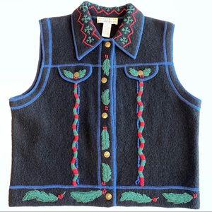 Vintage Telluride Wool Christmas/Winter Vest